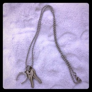 """Marc Jacobs """"Keys + Horse Shoe"""" Necklace"""